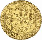 Photo numismatique  ARCHIVES VENTE 2010 -Amateur B 1 et B CHWARTZ 2 BARONNIALES Duché de BRETAGNE FRANCOIS Ier (1442-1450) 240- Cavalier d'or frappé à Rennes