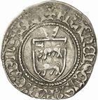 Photo numismatique  ARCHIVES VENTE 2010 -Amateur B 1 et B Chawartz 2 BARONNIALES Seigneurie de BEARN FRANCOIS PHEBUS (1479-1483) 246- Demi blanc d'argent.