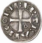 Photo numismatique  ARCHIVES VENTE 2010 -Amateur B 1 et B Chawartz 2 BARONNIALES Comté de TOULOUSE BERTRAND (1106-1112) 256- Denier.