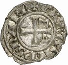 Photo numismatique  ARCHIVES VENTE 2010 -Amateur B 1 et B Chawartz 2 BARONNIALES Vicomté de NARBONNE AIMERI VI et l'archevêque GILLES AYCELIN (1306-1318) 265- Denier.