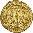 Photo numismatique  ARCHIVES VENTE 2010 -Amateur B 1 et B Chawartz 2 BARONNIALES Comté de PROVENCE CHARLES Ier D'ANJOU (1246-1285) 268- Salut d'or, frappé à partir de 1278 à Naples.