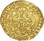 Photo numismatique  ARCHIVES VENTE 2010 -Amateur B 1 et B CHWARTZ 2 BARONNIALES Comté de PROVENCE LOUIS Ier (1382-1384) 270- Franc d'or émis à Avignon, 1er type : avec le titre de duc de Calabre.