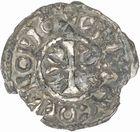 Photo numismatique  ARCHIVES VENTE 2010 -Amateur B 1 et B Chawartz 2 BARONNIALES Abbaye de CLUNY (XIIe siècle) 271- Denier.