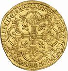Photo numismatique  ARCHIVES VENTE 2010 -Amateur B 1 et B Chawartz 2 ROYALES FRANCAISES JEAN II LE BON (22 août 1350-18 avril 1364)  276- Mouton d'or (17 janvier 1355).
