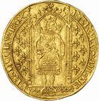 Photo numismatique  ARCHIVES VENTE 2010 -Amateur B 1 et B Chawartz 2 ROYALES FRANCAISES CHARLES V (8 avril 1364-16 septembre 1380)  277- Franc d'or à pied (20 avril 1365).