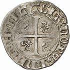 Photo numismatique  ARCHIVES VENTE 2010 -Amateur B 1 et B Chawartz 2 ROYALES FRANCAISES CHARLES VI (16 septembre 1380-21 octobre 1422)  278- Blanc dit « guénar » (1ère émission du 11 mars 1585), Toulouse.