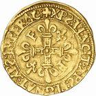 Photo numismatique  ARCHIVES VENTE 2010 -Amateur B 1 et B Chawartz 2 ROYALES FRANCAISES FRANCOIS I (1er janvier 1515–31 mars 1547)  281- Demi-écu d'or au soleil du 5e type, 3e émission (21 juillet 1519), Toulouse.