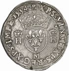 Photo numismatique  ARCHIVES VENTE 2010 -Amateur B 1 et B CHWARTZ 2 ROYALES FRANCAISES HENRI II (31 mars 1547-10 juillet 1559)  283- Teston du 2ème type, 1554 Toulouse.