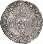 Photo numismatique  ARCHIVES VENTE 2010 -Amateur B 1 et B Chawartz 2 ROYALES FRANCAISES HENRI II (31 mars 1547-10 juillet 1559)  283- Teston du 2ème type, 1554 Toulouse.