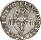 Photo numismatique  ARCHIVES VENTE 2010 -Amateur B 1 et B Chawartz 2 ROYALES FRANCAISES HENRI II (31 mars 1547-10 juillet 1559)  286- Demi-teston du 2ème type, 1556 Toulouse.