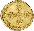 Photo numismatique  ARCHIVES VENTE 2010 -Amateur B 1 et B Chawartz 2 ROYALES FRANCAISES CHARLES IX (5 décembre 1560-30 mai 1574)  291- Demi-écu d'or au soleil non daté, Toulouse.