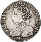 Photo numismatique  ARCHIVES VENTE 2010 -Amateur B 1 et B Chawartz 2 ROYALES FRANCAISES CHARLES IX (5 décembre 1560-30 mai 1574)  293- Teston du 1er type, 1573 Toulouse.