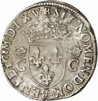 Photo numismatique  ARCHIVES VENTE 2010 -Amateur B 1 et B CHWARTZ 2 ROYALES FRANCAISES CHARLES IX (5 décembre 1560-30 mai 1574)  294- Demi-teston du 1er type, 1565 Toulouse.