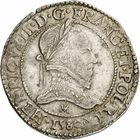 Photo numismatique  ARCHIVES VENTE 2010 -Amateur B 1 et B Chawartz 2 ROYALES FRANCAISES HENRI III (30 mai 1574–2 août 1589)  297- Demi-franc, 1580 Toulouse.