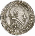 Photo numismatique  ARCHIVES VENTE 2010 -Amateur B 1 et B Chawartz 2 ROYALES FRANCAISES HENRI III (30 mai 1574–2 août 1589)  298- Demi-franc, 1589 Toulouse.
