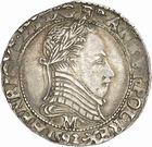 Photo numismatique  ARCHIVES VENTE 2010 -Amateur B 1 et B Chawartz 2 ROYALES FRANCAISES LA LIGUE au nom d'HENRI III (1589-1596)  299- Demi-franc, 1592 Toulouse.