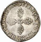 Photo numismatique  ARCHIVES VENTE 2010 -Amateur B 1 et B Chawartz 2 ROYALES FRANCAISES HENRI IV (2 août 1589-14 mai 1610)  300- Demi-franc, 1603 Toulouse.