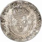 Photo numismatique  ARCHIVES VENTE 2010 -Amateur B 1 et B Chawartz 2 ROYALES FRANCAISES LOUIS XIV (14 mai 1643-1er septembre 1715)  305- Demi-écu aux palmes, 1693 Metz.