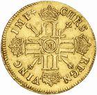 Photo numismatique  ARCHIVES VENTE 2010 -Amateur B 1 et B CHWARTZ 2 ROYALES FRANCAISES LOUIS XIV (14 mai 1643-1er septembre 1715)  306- Louis d'or aux huit L et aux insignes, 1701 Toulouse.