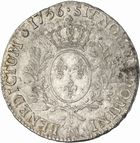 Photo numismatique  ARCHIVES VENTE 2010 -Amateur B 1 et B CHWARTZ 2 ROYALES FRANCAISES LOUIS XV (1er septembre 1715-10 mai 1774)  311- Ecu au bandeau, 1756 Toulouse.
