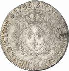 Photo numismatique  ARCHIVES VENTE 2010 -Amateur B 1 et B Chawartz 2 ROYALES FRANCAISES LOUIS XV (1er septembre 1715-10 mai 1774)  311- Ecu au bandeau, 1756 Toulouse.