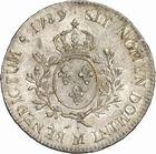 Photo numismatique  ARCHIVES VENTE 2010 -Amateur B 1 et B Chawartz 2 ROYALES FRANCAISES LOUIS XVI (10 mai 1774–21 janvier 1793)  315- Ecu aux rameaux d'olivier, 1789 Toulouse.