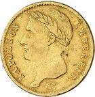 Photo numismatique  ARCHIVES VENTE 2010 -Amateur B 1 et B CHWARTZ 2 MODERNES FRANÇAISES NAPOLEON Ier, empereur (18 mai 1804- 6 avril 1814)  323- 20 francs or, 1808 Toulouse.