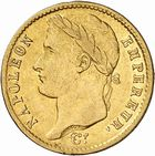 Photo numismatique  ARCHIVES VENTE 2010 -Amateur B 1 et B CHWARTZ 2 MODERNES FRANÇAISES NAPOLEON Ier, empereur (18 mai 1804- 6 avril 1814)  325- 20 francs or, 1810 Toulouse.