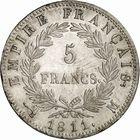 Photo numismatique  ARCHIVES VENTE 2010 -Amateur B 1 et B CHWARTZ 2 MODERNES FRANÇAISES NAPOLEON Ier, empereur (18 mai 1804- 6 avril 1814)  327-5 francs, 1811 Toulouse.