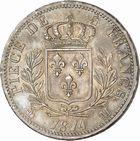 Photo numismatique  ARCHIVES VENTE 2010 -Amateur B 1 et B CHWARTZ 2 MODERNES FRANÇAISES LOUIS XVIII, 1ère restauration (3 mai 1814-20 mars 1815)  329- 5 francs, 1814 Toulouse.