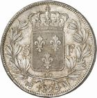 Photo numismatique  ARCHIVES VENTE 2010 -Amateur B 1 et B CHWARTZ 2 MODERNES FRANÇAISES LOUIS XVIII, 2e restauration (8 juillet 1815-16 septembre 1824)  330- 5 francs, 1824 Toulouse.