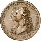 Photo numismatique  ARCHIVES VENTE 2010 -Amateur B 1 et B CHWARTZ 2 MEDAILLES ETATS DE BOURGOGNE  335- Naissance du Dauphin et mariages de douze filles de Bourgogne dotées par les Etats, 1781.
