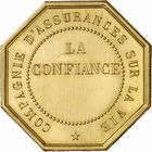 Photo numismatique  ARCHIVES VENTE 2010 -Amateur B 1 et B CHWARTZ 2 MEDAILLES VILLE DE PARIS  341- La Confiance, Compagnie d'assurance sur la vie.