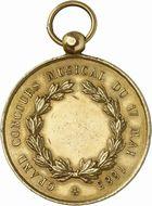 Photo numismatique  ARCHIVES VENTE 2010 -Amateur B 1 et B CHWARTZ 2 MEDAILLES VILLE DE TOULOUSE  343- Concours musical du 17 mai 1885.