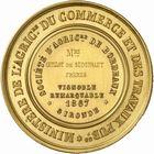 Photo numismatique  ARCHIVES VENTE 2010 -Amateur B 1 et B CHWARTZ 2 MEDAILLES LA VIGNE  344- Gironde, concours de vignoble remarquable, 1867.