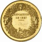 Photo numismatique  ARCHIVES VENTE 2010 -Amateur B 1 et B CHWARTZ 2 MEDAILLES LA VIGNE  346- Chalon-sur-Saône, société d'agriculture et de viticulture, exposition de 1887.