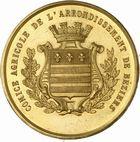 Photo numismatique  ARCHIVES VENTE 2010 -Amateur B 1 et B CHWARTZ 2 MEDAILLES LA VIGNE  347- Béziers, comice agricole de l'arrondissement de, prix de traitement de la chlorose des vignes 1895.
