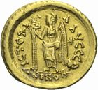 Photo numismatique  MONNAIES PEUPLES BARBARES OSTROGOTHS Epoque d'ODOACRE (476-493) Solidus au nom de Léon Ier (457-474), frappé à Rome ?