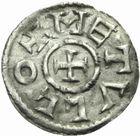 Photo numismatique  MONNAIES CAROLINGIENS CHARLES LE CHAUVE, roi d'Aquitaine (840-866)  Obole de Melle.