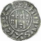 Photo numismatique  MONNAIES ROYALES FRANCAISES PHILIPPE I (1060-1108)  Denier d'Etampes du 4�me type.