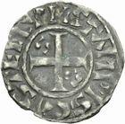 Photo numismatique  MONNAIES ROYALES FRANCAISES PHILIPPE Ier (4 août 1060-29 juillet 1108)  Denier d'Etampes du 4ème type.