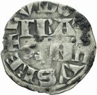 Photo numismatique  MONNAIES ROYALES FRANCAISES LOUIS VII (1er août 1137-18 septembre 1180)  Denier de Paris du 4ème type.