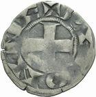 Photo numismatique  MONNAIES ROYALES FRANCAISES PHILIPPE II AUGUSTE (1180-1223)  Denier de Péronne.