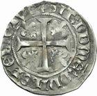 Photo numismatique  MONNAIES ROYALES FRANCAISES CHARLES VII (30 octobre 1422-22 juillet 1461)  Blanc aux trois lis.