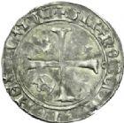 Photo numismatique  MONNAIES ROYALES FRANCAISES CHARLES VII (30 octobre 1422-22 juillet 1461)  Blanc aux lis accotés. 1ère émission.