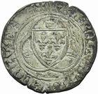 Photo numismatique  MONNAIES ROYALES FRANCAISES CHARLES VII (30 octobre 1422-22 juillet 1461)  Blanc à la couronne. 1ère émission.