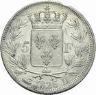 Photo numismatique  MONNAIES MODERNES FRANÇAISES CHARLES X (16 septembre 1824-2 août 1830)  5 francs.