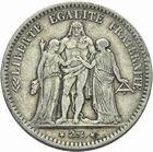 Photo numismatique  MONNAIES MODERNES FRANÇAISES 2ème RÉPUBLIQUE (24 février 1848-2 décembre 1852)  5 francs.