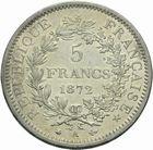 Photo numismatique  MONNAIES MODERNES FRANÇAISES 3ème REPUBLIQUE (4 septembre 1870-10 juillet 1940)  5 francs.