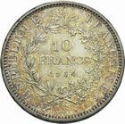 Photo numismatique  MONNAIES MODERNES FRANÇAISES 5ème RÉPUBLIQUE (Depuis le 4 octobre 1958)  Essai de 10 francs.